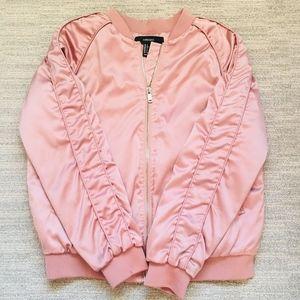 Pink Bomber Zip-Up Jacket